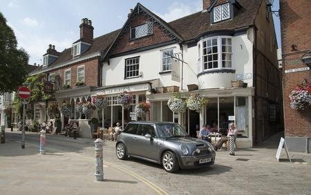 restuarant: Winchester city centre cafe,pub,restuarant area on The Square