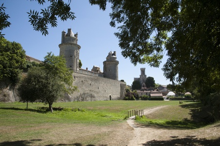 vendee: Chateau d  Apremont in Vendee region France
