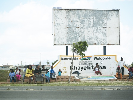 township: Cape Town township entrance to the Khayelitsha