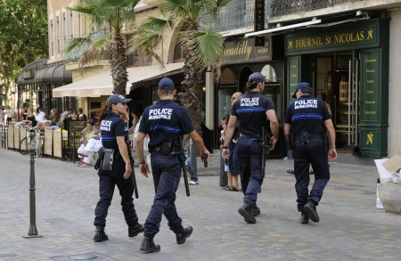 Police Municipale squad in Narbonne  France