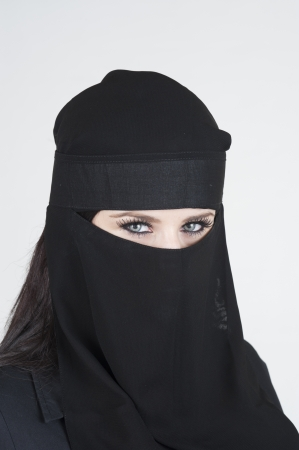 Young woman wearing a Niqub Stock Photo - 23024212