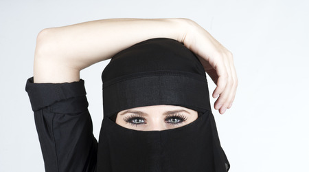 Young woman wearing a Niqub Stock Photo - 23024239