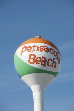 pensacola beach: Pensacola Beach Florida USA water tower