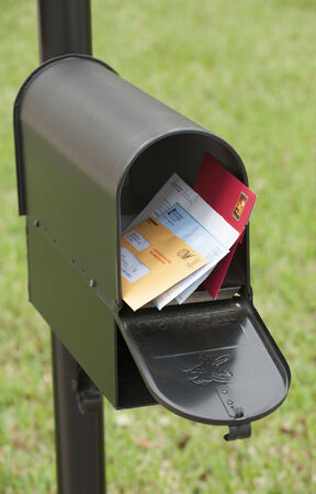 US mail box containing letters Редакционное
