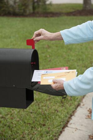 米国のメールボックス 写真素材