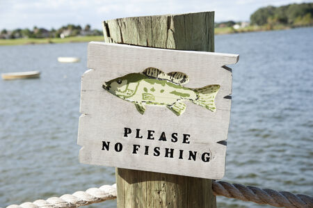 Sumter Landing in the Villages Florida USA Please no fishing notice photo