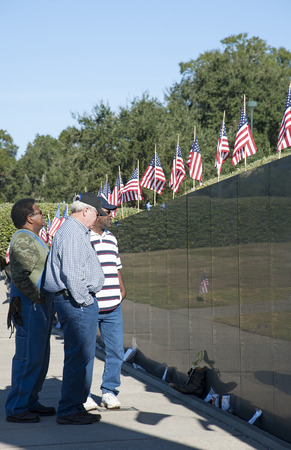 pay wall: Wall of Remembrance in Veterans Memorial Park Pensacola Florida USA Editorial