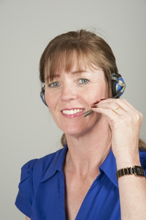 telephonist: Telephonist wearing a headset