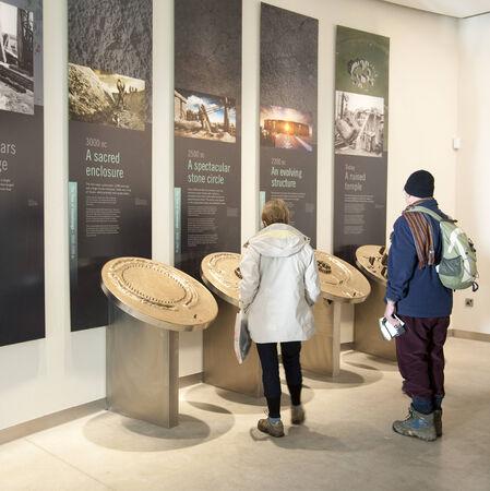visitors area: Interior of the Stonehenge Visitor centre Wiltshire UK