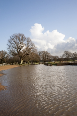 River Rother on East Sussex and Kent borders in flood situation photo