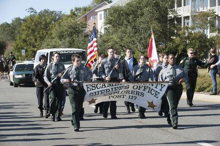 sheriffs: Escambia County Sheriffs Office Explorers march on Veterans Day parade Pensacola Florida USA