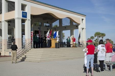 pensacola beach: Veterans Day service at Pensacola Beach Florida USA