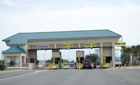 pensacola beach: Pay station on toll road at Pensacola Beach Florida USA