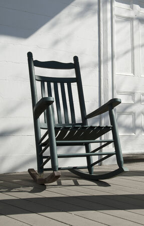 tradional: Old wooden rocking chair American USA