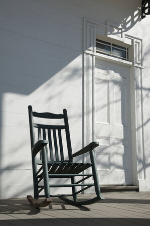 Old wooden rocking chair American USA