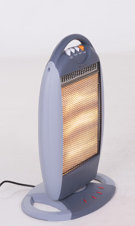 Glow of an electric fire  A Halogen heater Archivio Fotografico