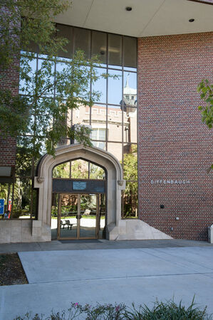 tallahassee: Florida State University Tallahassee The Diffenbaugh building with Gothis entrance Editorial