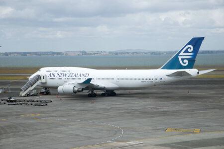 boeing 747: ANZ Boeing 747 400 a Auckalnd Aeroporto di Nuova Zelanda
