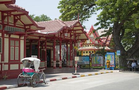 Hua Hin railway station a historic Thai building in Thailand
