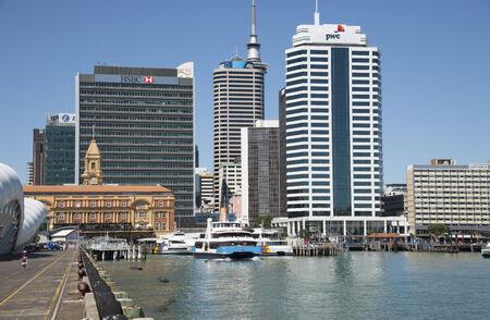 Queens Wharf Auckland Harbour New Zealand