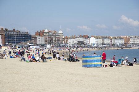 seafront: Weymouth Dorset a popular seaside town in Dorset England UK