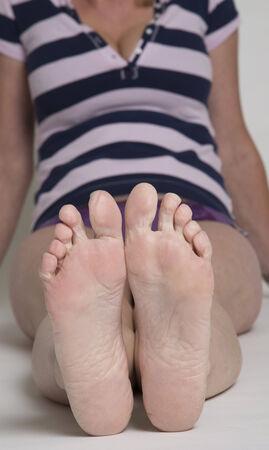 Soles ein Womans Füße Standard-Bild