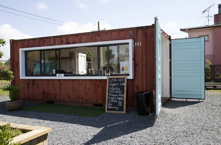converted: Roadside cafe made from a shipping container Editorial