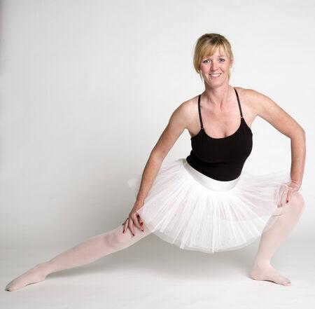 Ballet dancer working out in studio