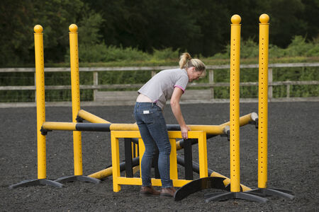 pony: Building a jump for ponies and horses in a riding school