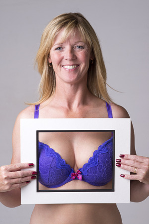 Bra and bust in a frame photo