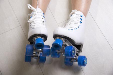 patines: La mujer llevaba patines