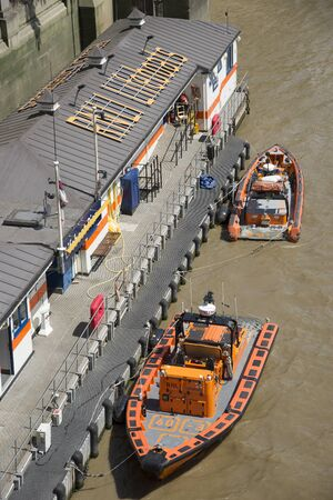 lifeboat station: RNLI lifeboat station on the River Thames London UK