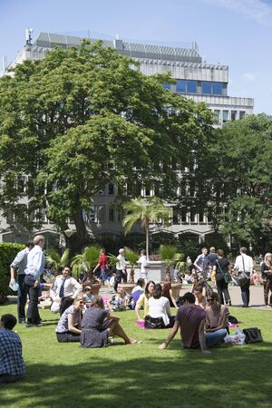 Stock Photo   Summer Day In The Victoria Embankment Gardens London UK