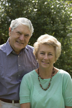 sexes: Portrait of an elderly couple both in their seventies