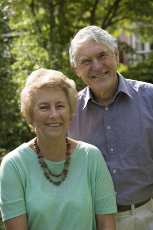 Portrait of an elderly couple both in their seventies photo