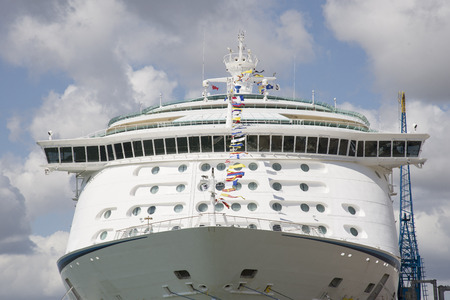 the seas: Cruise liner Adventure of the Seas in Port of Southampton UK Editorial