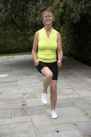 keep fit: Keep fit woman running on the spot
