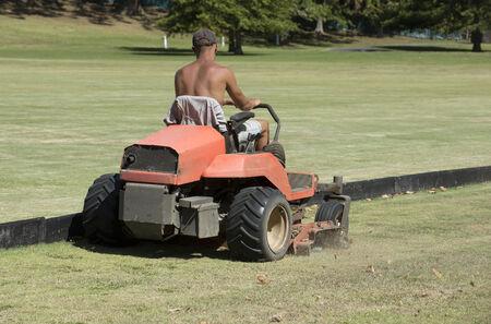 grass cutting: Ride on grass cutting machine