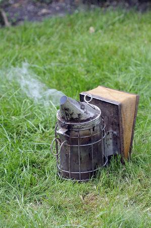 galvanised: Beekeepers galvanised smoker
