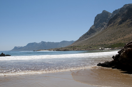 els: Sea and mountains at Rooi Els on the Atlantic Ocean Western cape South Africa