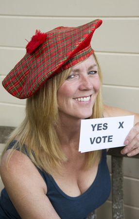 voter: Scottish Referendum yes vote from this female voter