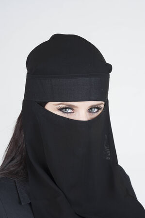 Young woman wearing a Niqab photo