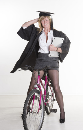 Fahrrad im dem minirock auf Laurencocoxo mädchen