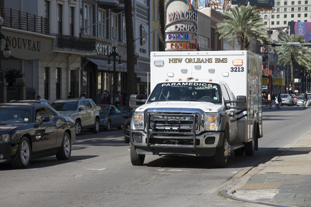 emergency call: Ambulance on emergency call New Orleans USA