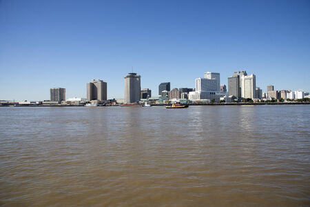 mississippi river: Waterfront buildings New Orleans on the Mississippi River Louisiana USA Editorial