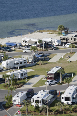 RV and trailer park on Santa Rosa Sound Florida USA