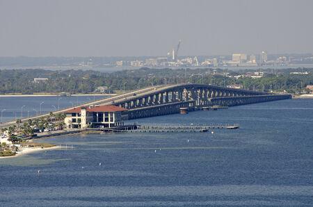 Toll Bridge over Santa Rosa Sound Pensacola Florida USA