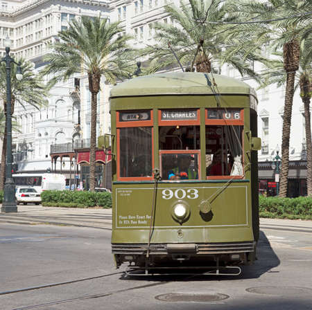 st charles: St Charles streetcar city centre New Orleans USA Editorial