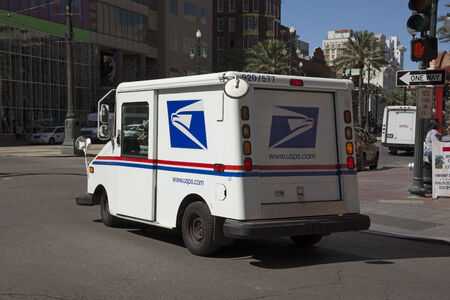 usps: USPS mail van in New Orleans Editorial