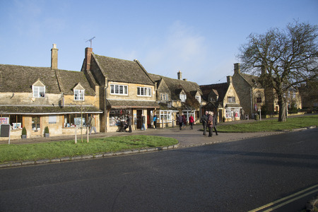 gloucestershire: Broadway a Cotswold town in Gloucestershire England UK Editorial